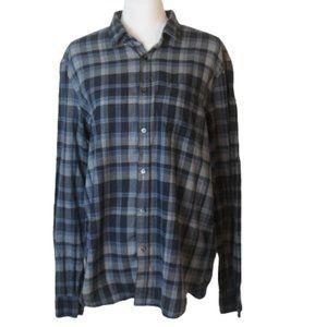 Burberry Brit Men's Large Blue Plaid Shirt